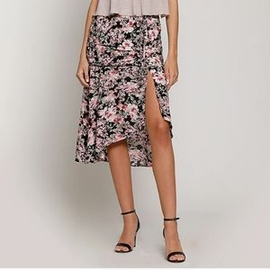 NWT Walter Baker Tropical Print Ruched Skirt